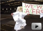 Angels without borders landed near the Detention Centre Zaandam, December 18th 2011