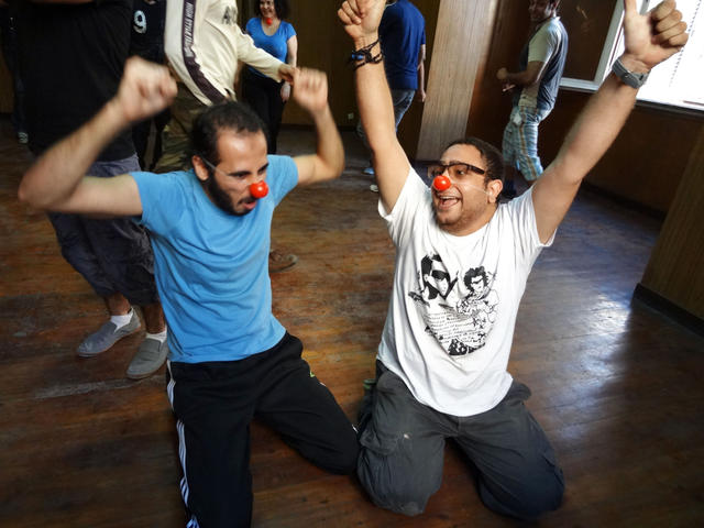 Basic Rebel Clown Training in Alexandria - November 2012 - Photo: Hans and Maro